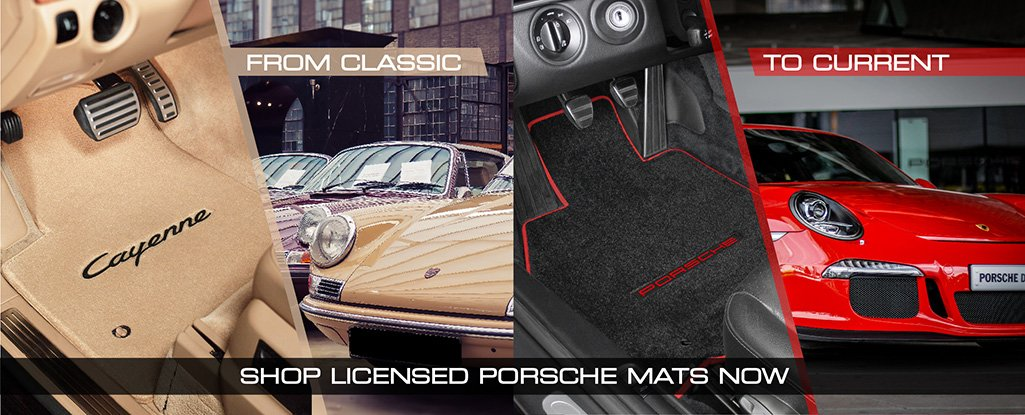Buy Licensed Porsche Logo Floor Mats Direct From The Lloyd Mats Factory