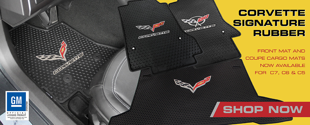 Custom it all weather rubber mats for Corvette C7 C6 C5
