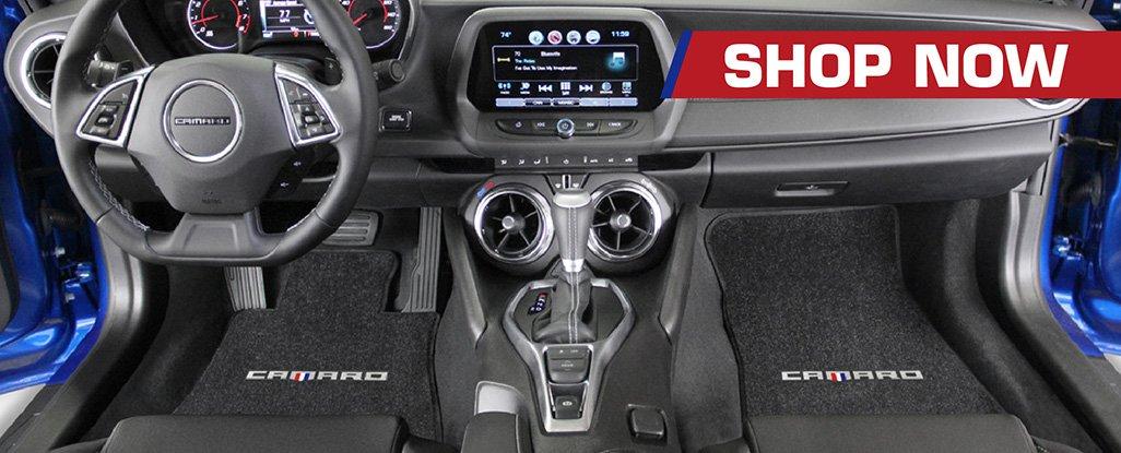 Buy licensed Camaro Logo floor mats direct from the Lloyd Mats factory